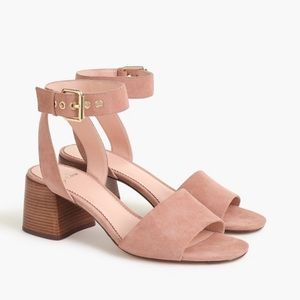 J. Crew Pink Suede Leather Strap Sandal